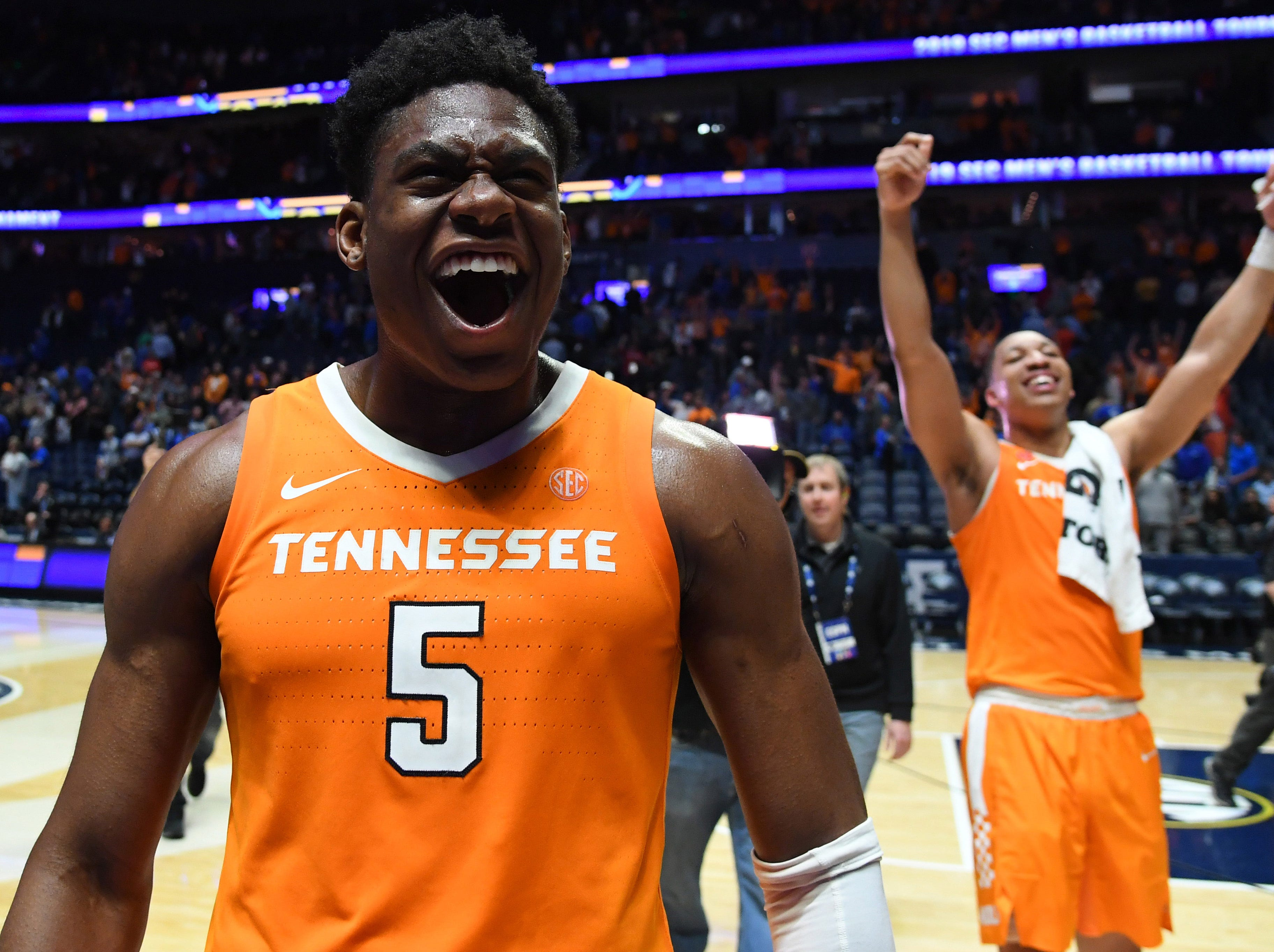 Tennessee (29-5), No. 2 seed in South, at-large bid out of Southeastern Conference.