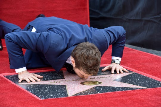 Buble is honored with a star on the Hollywood Walk of Fame on November 16, 2018, in Hollywood, California.