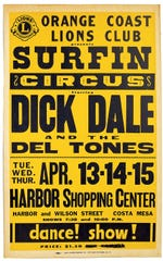 Poster announcing a concert by surf music pioneer Dick Dale. From the box set Surf Nuggets.