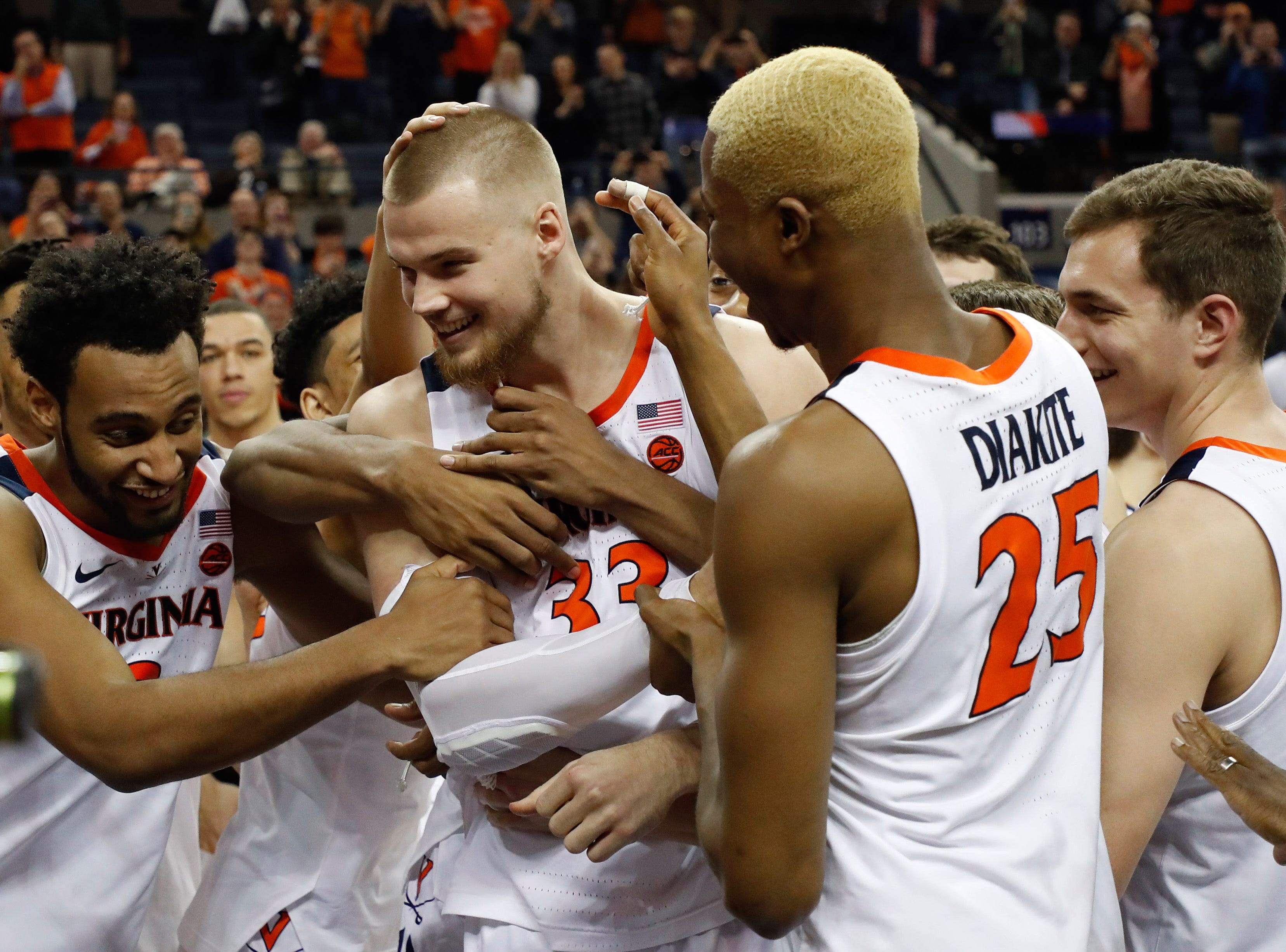 Virginia (29-3), No. 1 seed in South, at-large bid out of Atlantic Coast Conference