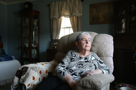 Doris Horn of Parsipanny, a Medicare recipient who received a bunch of robocalls from scammers offering free medical braces, tells her story at her home in Parsippany, NJ Tuesday, March 19, 2019. A full set of medical braces she didn't order and doesn't need arrived at her home and Westside Medical Braces was paid by Medicare and her second insurer. She has returned the braces and a second box of braces from a different company that she also received.