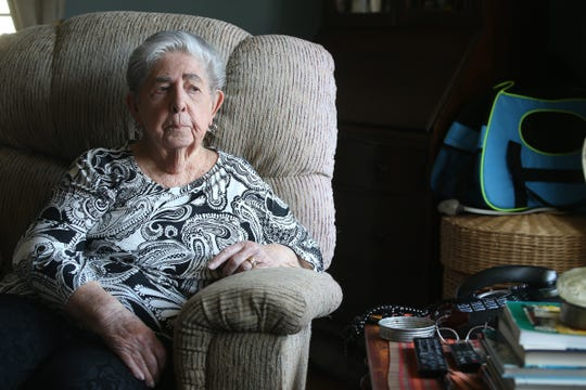Doris Horn of Parsipanny, a Medicare recipient who received a bunch of robocalls offering free medical braces, tells her story at her home Tuesday, March 19, 2019.