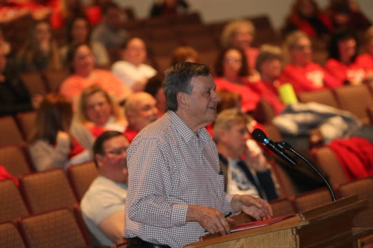 Edward Scanlon of the Barnegat Pines section of Lacey urged the school board to reconsider cuts of paraprofessionals.