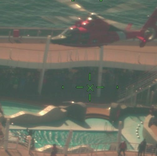 Cruise ship passenger found unconscious airlifted to Atlantic City from sea
