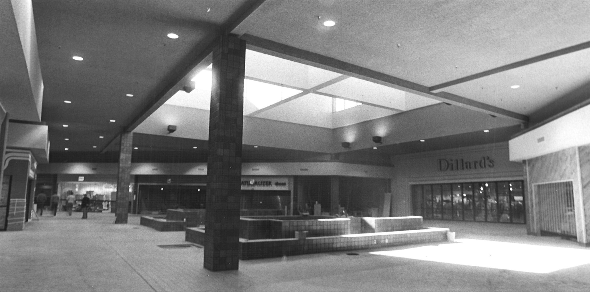 The Dillard's courtyard before the retailer split into two stores.