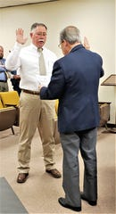 Mark Moore, a former assistant chief of the Abilene Police Department, was sworn in Tuesday morning as Precinct 4 Constable.