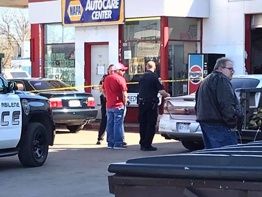 Abilene police responded to an automotive repair shop in the 3500 block of North Sixth Street at about 4 p.m. Tuesday, March 19, 2018. One man was reportedly shot at the shop, though initial reports indicate he shot himself.