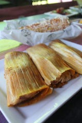 House-made tamales at Cantina Louie.
