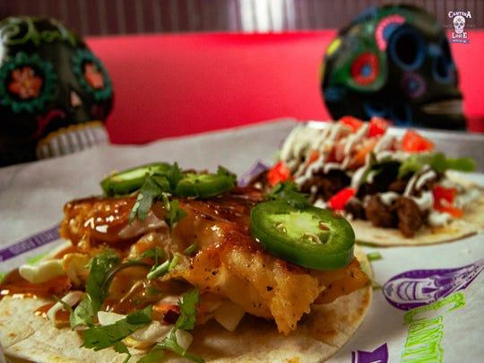 Grouper tacos at Cantina Louie