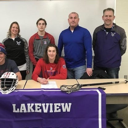 Lakeview's Lamb signs to play lacrosse at Div. 1 Detroit Mercy