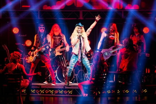 """In the 10th anniversary tour of """"Rock of Ages,"""" Sam Harvey stars as Stacee Jaxx."""