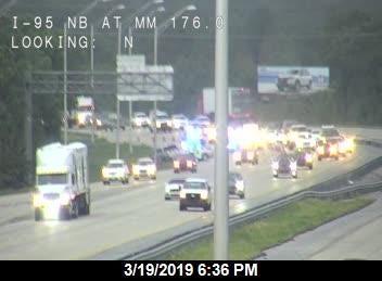 Crash in Brevard on I-95 south backs up traffic.