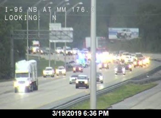 Crash in Brevard on I-95 south backs up traffic.