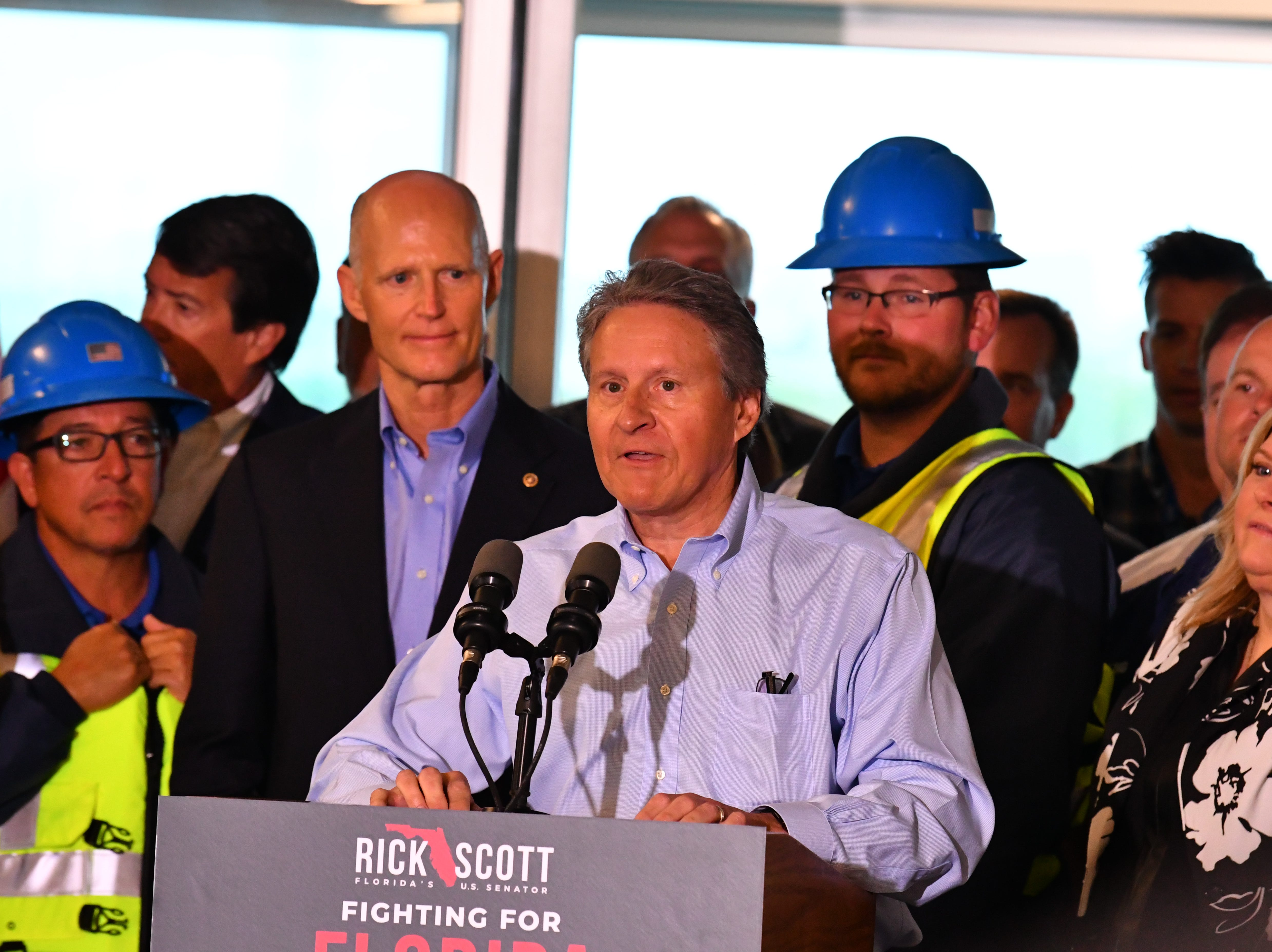 Sen. Rick Scott held a press conference at Terminal 5 Tuesday morning at Port Canaveral, pledging to work for $140 million in the budget for Florida ports. Port CEO John Murray made some comments after the senator.