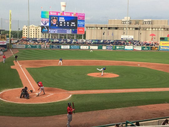 The Hartford Yard Goats minor-league baseball team plays at Dunkin' Donuts Park in Hartford, Connecticut.