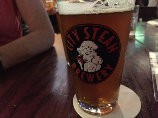 The Naughty Nurse is a trademark beer at City Steam Brewery in Hartford, Connecticut.