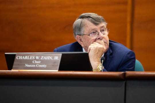 Charles Zahn Jr. chair of the Port of Corpus Christi commissioners during public comment regarding the  Harbor Island project at their meeting on Tuesday, March 19, 2019.