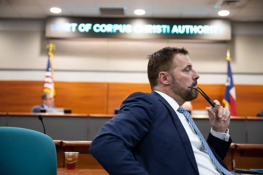 Sean Strawbridge CEO of the Port of Corpus Christi during a commissioners meeting on Tuesday, March 19, 2019.