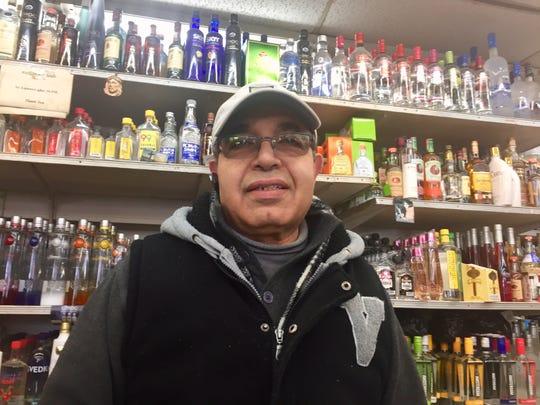 "Nashat ""Tony"" Girgis operates Triangle Liquors at Broadway and Kaighn Avenue in Camden."
