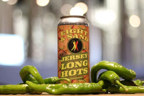 Eight & Sand's Smoked Jersey Long Hots will be released on Friday. It is a Polish-style wheat beer brewed with fresh N.J. peppers.
