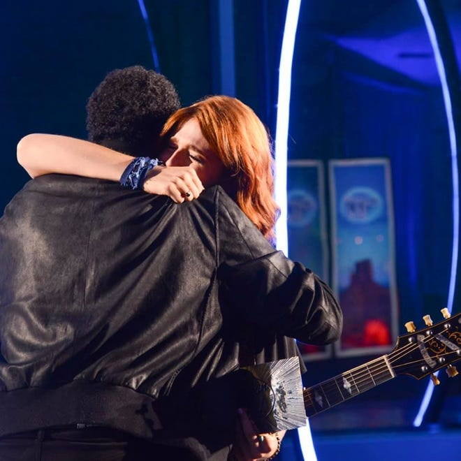 Payton Taylor, a native of Turnersville, New Jersey, embraces 'American Idol' judge Lionel Richie during her audition. Taylor's audition did not air on the show, but she received a golden ticket to advance to Hollywood Week.