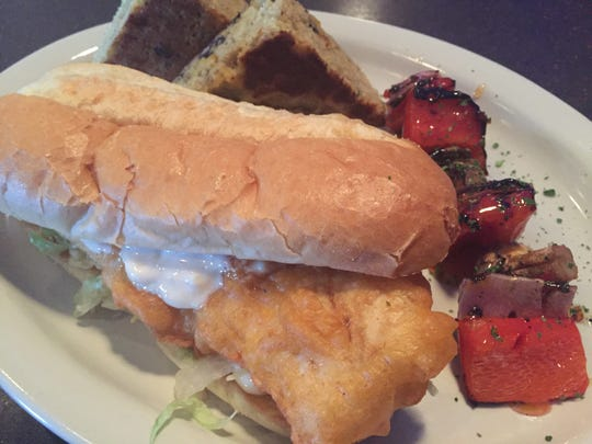 The cod sandwich at Copper Blue in Milford