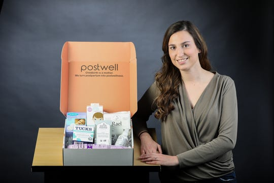 Oakley resident Jess Kerr, who helps launch start-ups,  launched one of her own: Postwell gift boxes, which are filled with the products a new mom needs to take care of herself post delivery.