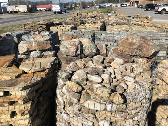 Clarksville's expanded AR Stonework has a selection of decorative stone and pavers at its home on Ashland City Road.