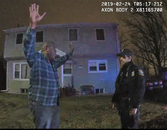 Charles Green of Piscataway being asked to perform field sobriety tests after being stopped for allegedly driving while intoxicated in Edison.