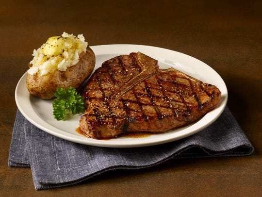 A T-bone steak from Bonanza Steakhouse in Des Moines.