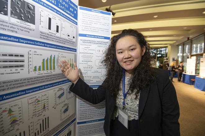 Madeleine Yang, 17, of Beverly Hills, received a $100,000 award for her work toward a faster, more effective way to manufacture vaccines for influenza.
