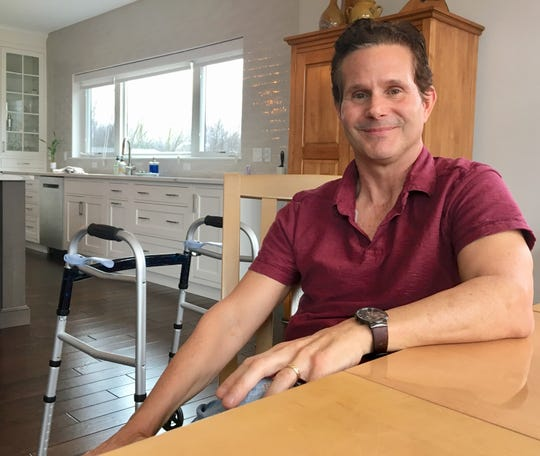 Robert Cotton, 51, of Ann Arbor has the degenerative disease amyotrophic lateral sclerosis, better known as ALS or Lou Gehrig's disease. It is affecting his mobility, making it more and more difficult to walk.
