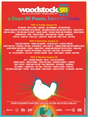 Official Woodstock 50 poster