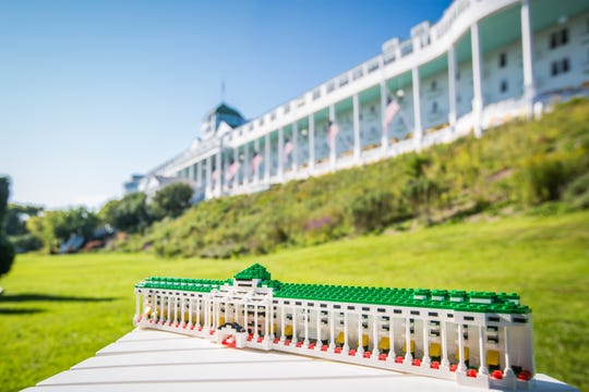 A total of 710 Lego pieces were used to create a model of the Grand Hotel at Mackinac Island. The model was submitted to Lego Ideas website to be voted on becoming a kit.