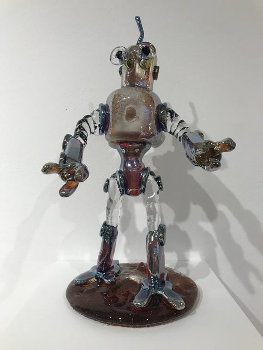 """Drop him and he'll shatter: Ian Zapico's awesome """"Strolling Droid."""""""