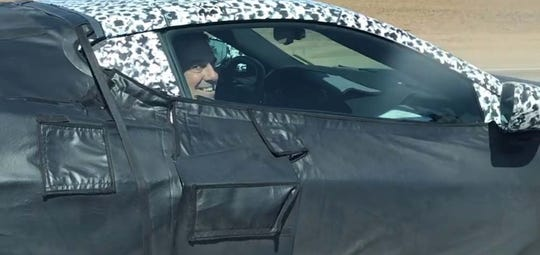 Spied in the new Corvette C8: GM President Mark Reuss, who can't help but grin.