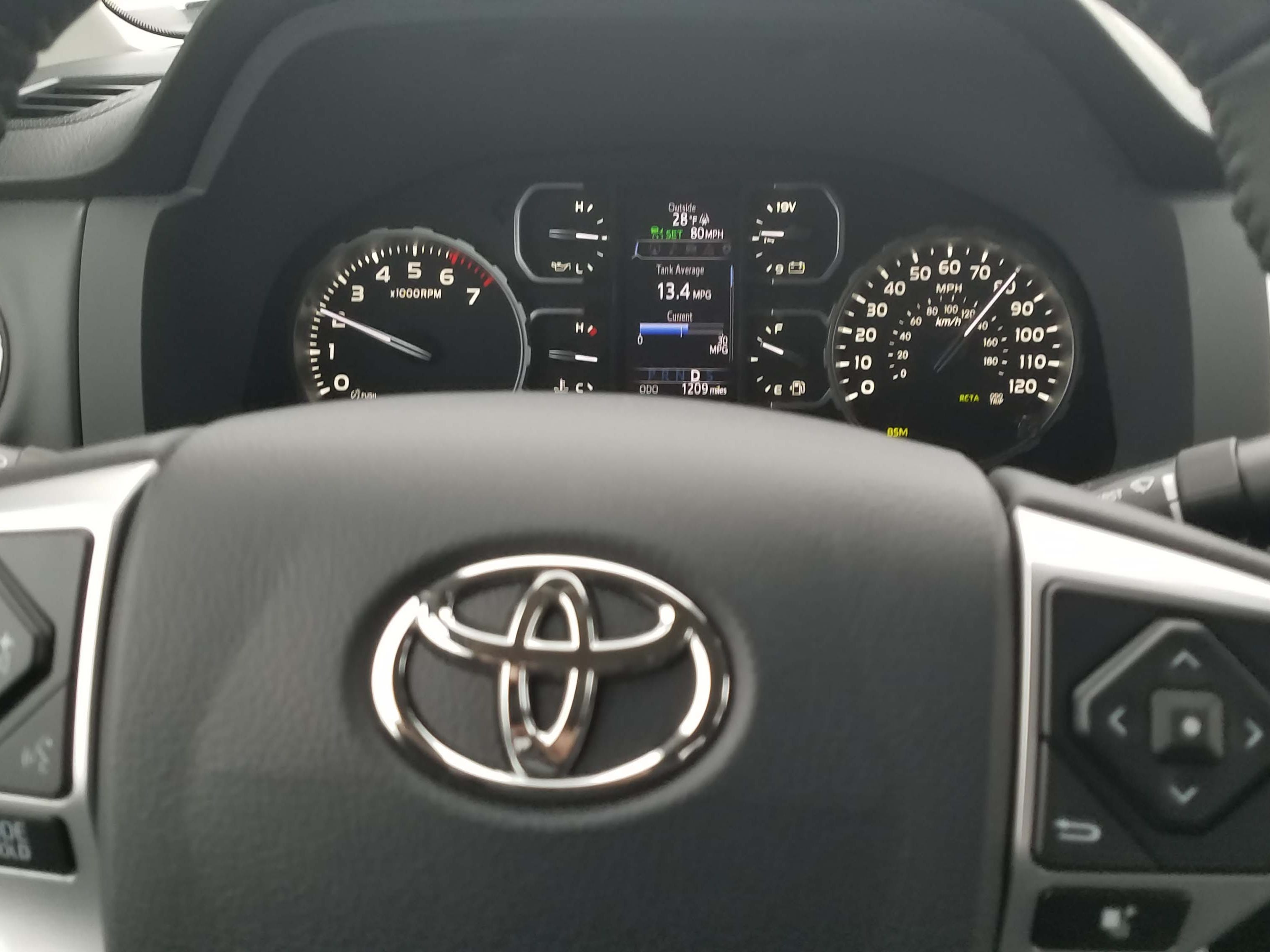 The 2019 Toyota Tundra Limited comes with lots of standard options like adaptive cruise control and pedestrian detection. The V-8 does guzzle gas at 14 mpg on average.
