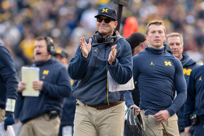 It's early, but Jim Harbaugh's Michigan football team is favored in every game next season, including Ohio State.