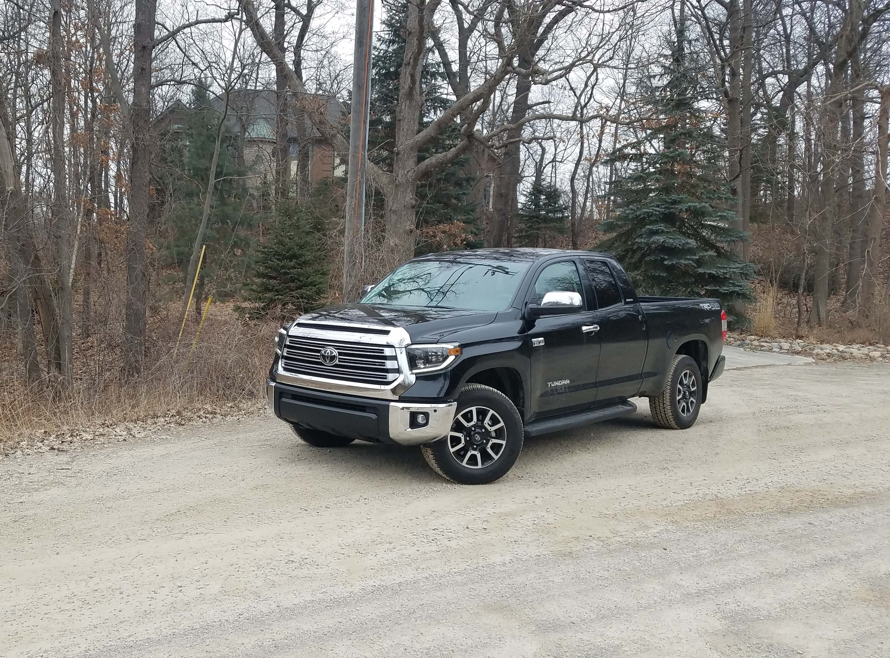 Some of Detroit's nicest homes are on its worst dirt roads. The 2019 Toyota Tundra will get you there in all kinds of weather.