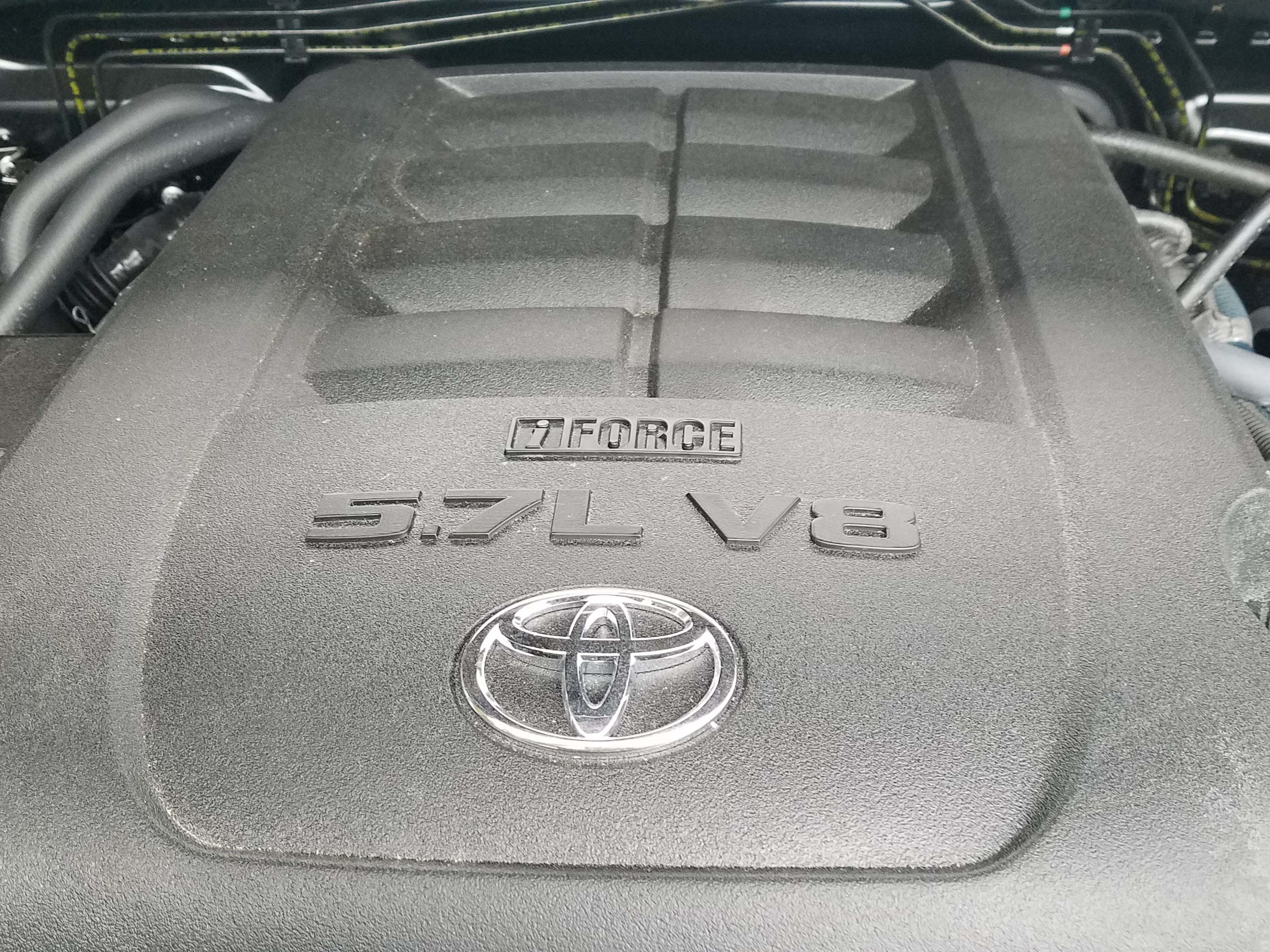 The top-of-the-line, 5.7-liter V-8 in the 2019 Toyota Tundra pumps out 381 horsepower and 401 pound-feet of torque.