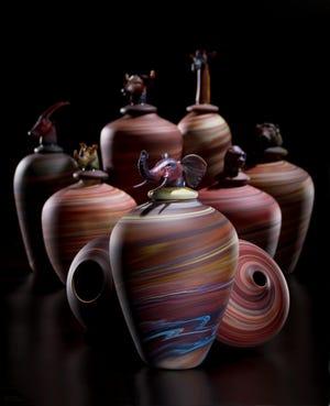 "Marc VandenBerg elegant grouping, ""Spirit Vessels."""