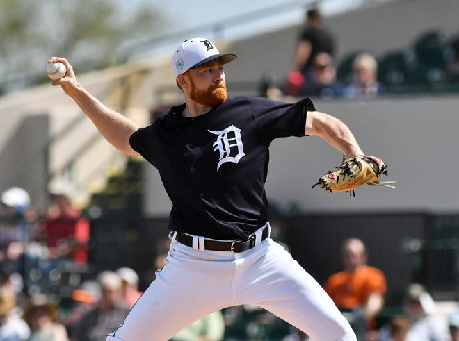 Tigers pitcher Spencer Turnbull (pictured) could get a shot as the team's fifth starter to open the season because of Michael Fulmer's uncertain status.