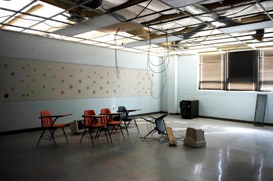 A classroom inside New Harmony's empty school building which closed in 2012 due to small enrollment. The Town Council voted 5-0 Tuesday, March 19, 2019 to sell the building to Erik Arneberg for $125,000.