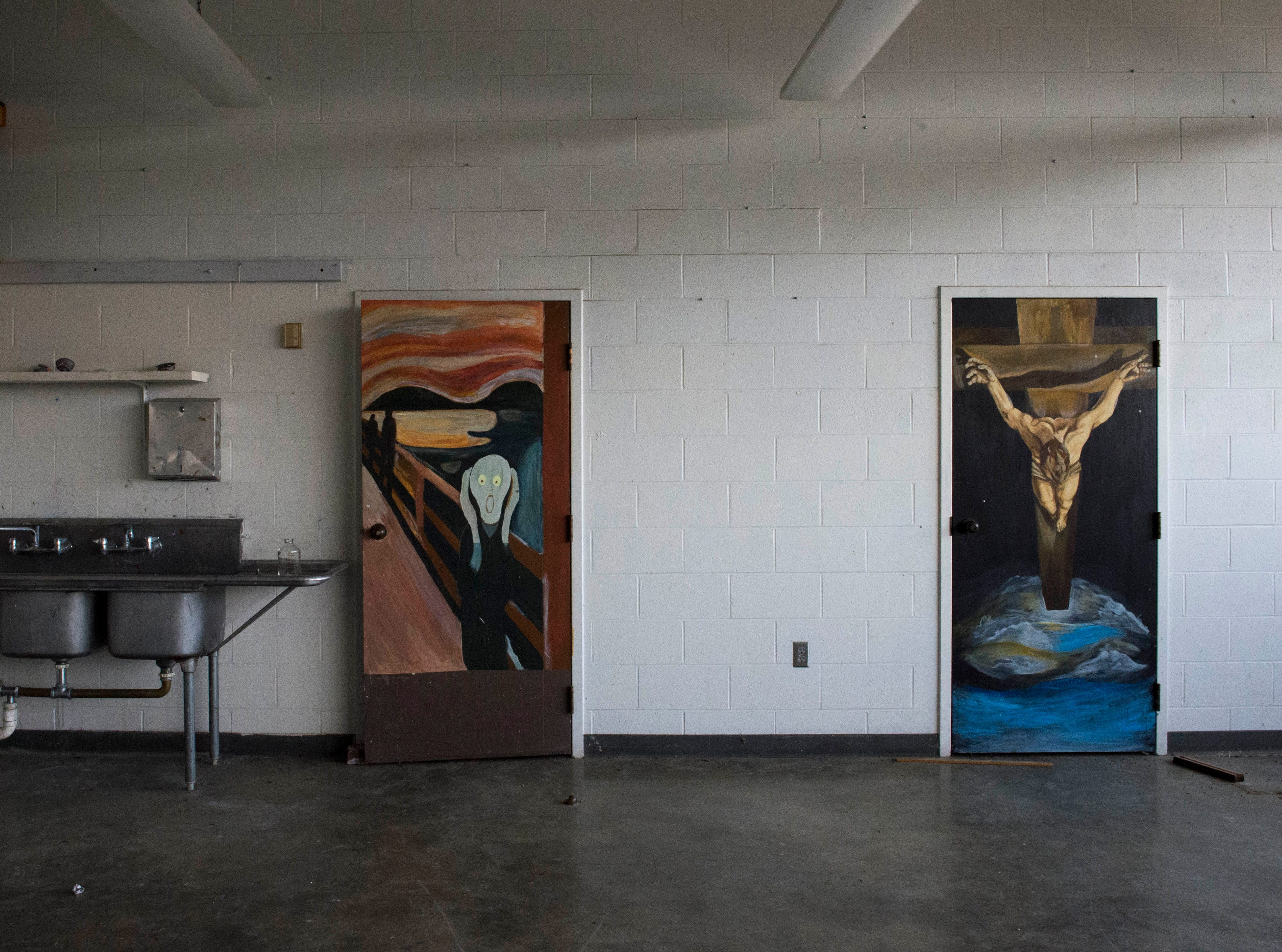 The art room inside New Harmony's empty school building which closed in 2012 due to small enrollment. The Town Council voted 5-0 Tuesday, March 19, 2019 to sell the building to Erik Arneberg for $125,000.
