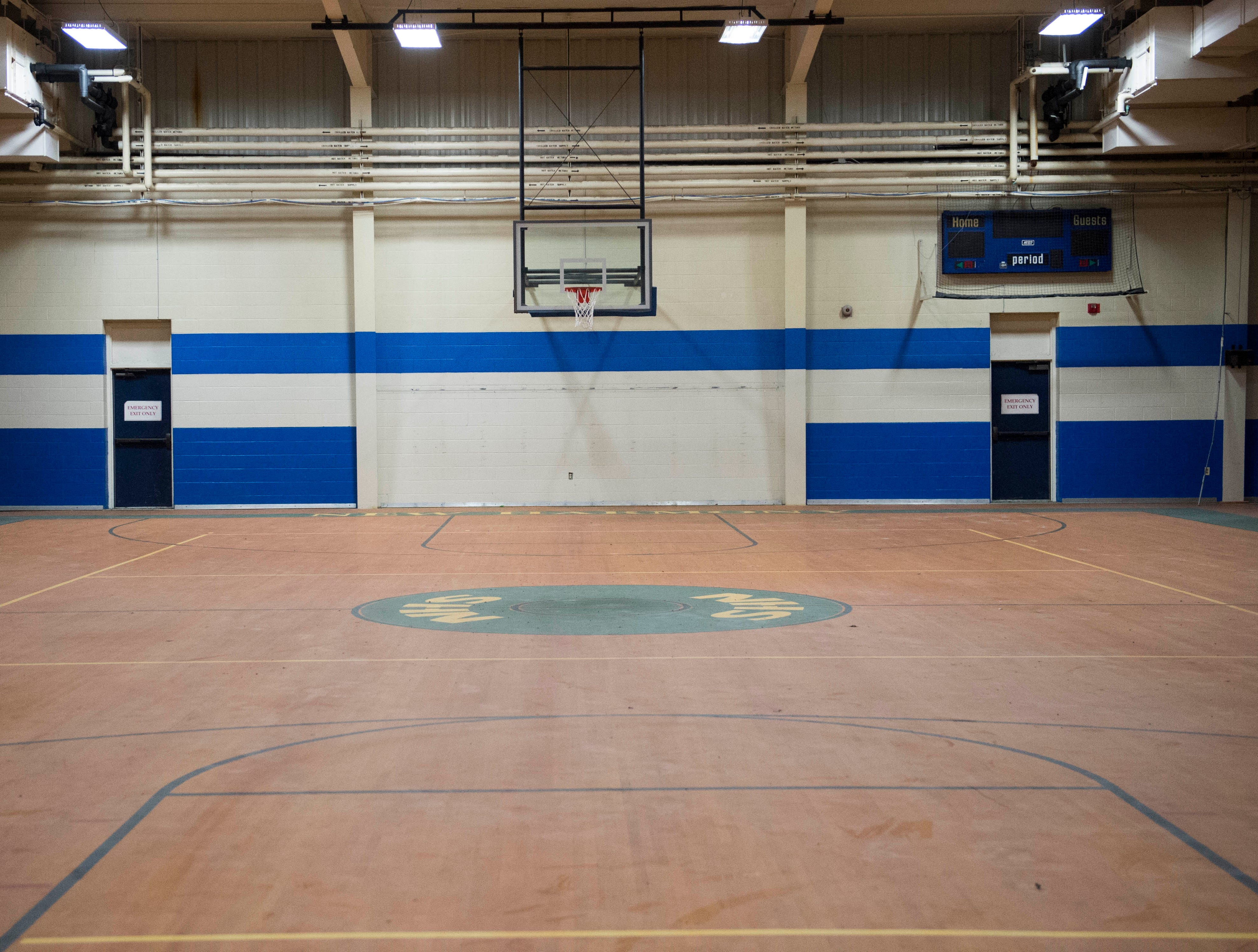 The gymnasium inside New Harmony's empty school building which closed in 2012 due to small enrollment. The Town Council voted 5-0 Tuesday, March 19, 2019 to sell the building to Erik Arneberg for $125,000.