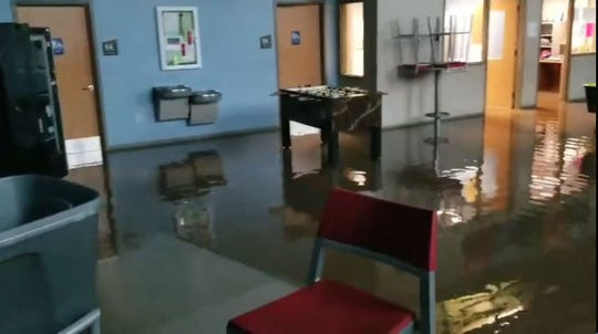 The lower level of the Boys & Girls Club of Fond du Lac filled with water Thursday, March 14.