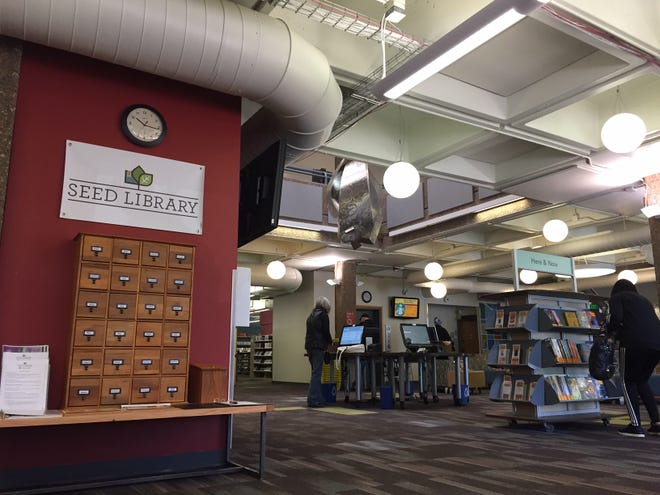 A seed library debuted Monday at Fort Collins' Old Town Library, offering library members a chance to check out seeds for their personal gardens.