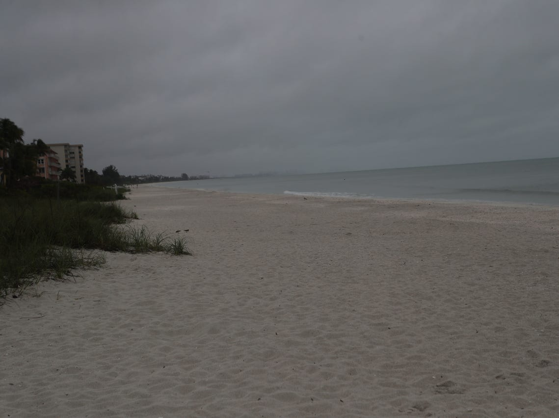 A front is dropping light rain throughout Southwest Florida on Tuesday 3/19/2019. Images from Fort Myers Beach, Lovers Key, Bonita Beach and Bonita Springs.