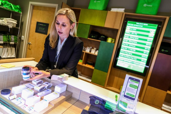 On March 19, 2019, one day after Gov. Ron DeSantis formally lifted a ban on smokable medical marijuana, the Florida shops planning to sell it continued to wait for formal approval to do so. Trulieve in Venice and its CEO Kim Rivers waited all day to sell the cannabis flower to their customers but the OK never came in. Rivers, showed off some of the products they have available.