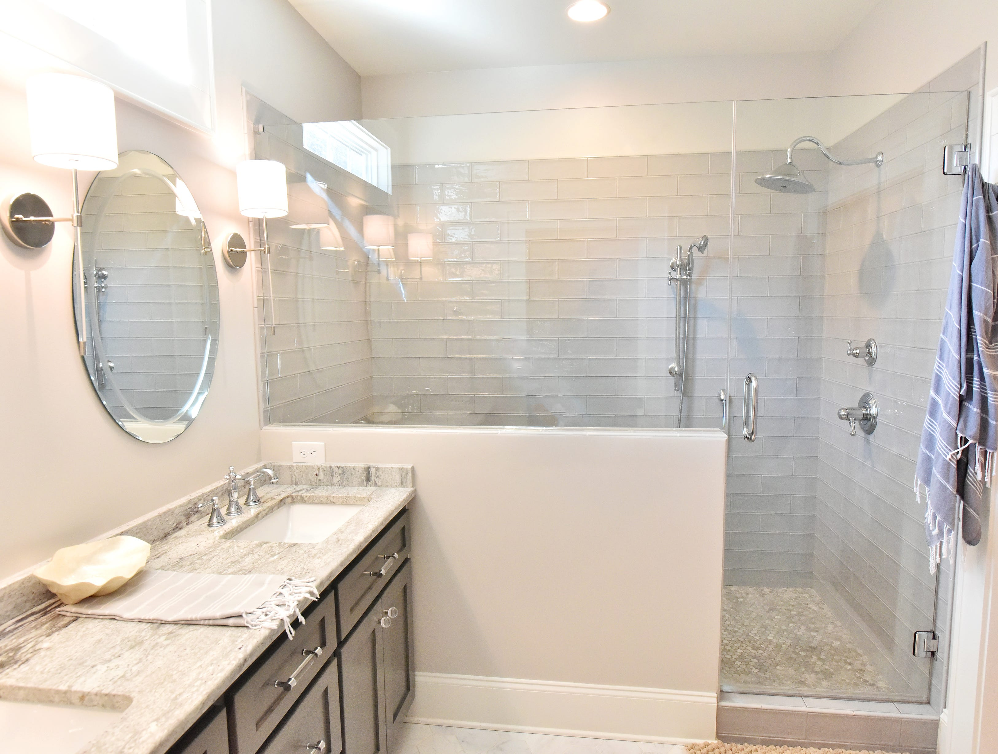 The remodeled master bathroom.